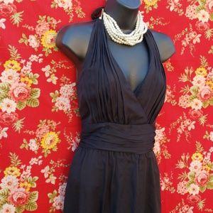WHITE HOUSE BLACK MARKET SILK HALTER DRESS  *530